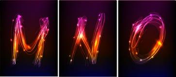 Alfabeto fatto di luce al neon Immagini Stock