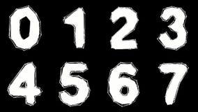 Alfabeto fatto di poli stile basso isolato su fondo bianco illustrazione vettoriale
