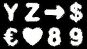Alfabeto fatto di poli stile basso isolato su fondo bianco royalty illustrazione gratis