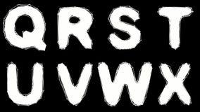 Alfabeto fatto di poli stile basso isolato su fondo nero illustrazione vettoriale