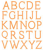Alfabeto feito da laranja Fotos de Stock Royalty Free