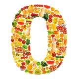 Alfabeto feito das frutas e verdura Imagens de Stock Royalty Free