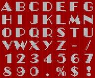 Alfabeto feito malha do Natal Fotografia de Stock
