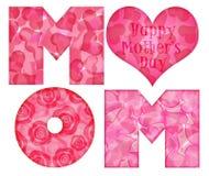 Alfabeto felice della mamma di giorno della madre Fotografie Stock