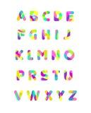Alfabeto feliz Fotografía de archivo libre de regalías