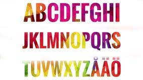Alfabeto fijado con las letras escandinavas Foto de archivo libre de regalías