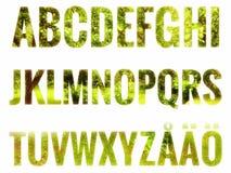 Alfabeto fijado con las letras escandinavas Imagen de archivo