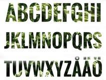 Alfabeto fijado con las letras escandinavas Fotos de archivo