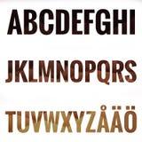 Alfabeto fijado con las letras escandinavas Fotografía de archivo libre de regalías