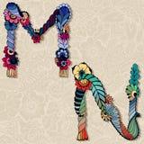 Alfabeto floral stock de ilustración