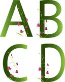 Alfabeto floral Imagem de Stock Royalty Free