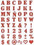 Alfabeto floreale illustrazione vettoriale