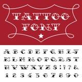 Alfabeto - fuente de vector del tatuaje Fotos de archivo