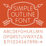 Alfabeto - fuente de vector simple Libre Illustration