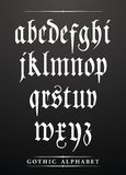 Alfabeto gótico Fotografía de archivo