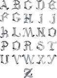 Alfabeto gótico Imagens de Stock Royalty Free