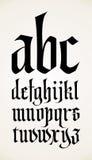 Alfabeto gótico de la fuente del vector Imágenes de archivo libres de regalías