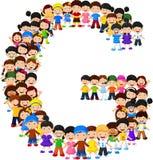Alfabeto G do formulário das crianças ilustração do vetor