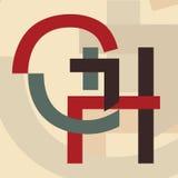 Alfabeto G, H Imagens de Stock