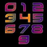Alfabeto geométrico multicolor de moda. Imagenes de archivo