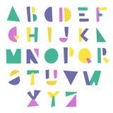 Alfabeto geometrico del fumetto Fotografia Stock