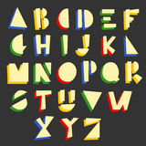 Alfabeto geometrico del fumetto Fotografie Stock Libere da Diritti