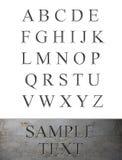 Alfabeto grabado mármol Imagen de archivo libre de regalías