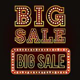 Alfabeto grande da venda com ampola Estilo de Broadway Fotos de Stock