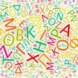 Alfabeto greco Immagini Stock Libere da Diritti