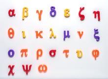 Alfabeto greco del giocattolo Fotografie Stock Libere da Diritti