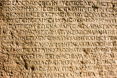 Alfabeto grego Fotos de Stock