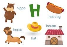 Alfabeto H stock de ilustración