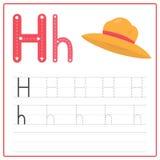 Alfabeto H de la tarjeta de la escritura Fotos de archivo libres de regalías