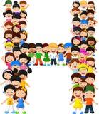 Alfabeto H do formulário das crianças ilustração royalty free