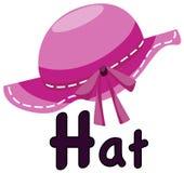 Alfabeto H para el sombrero Foto de archivo libre de regalías