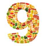 Alfabeto hecho de frutas y verdura Imágenes de archivo libres de regalías