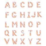 Alfabeto hecho de onda abstracta Foto de archivo