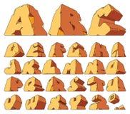 Alfabeto hecho de piedra Imágenes de archivo libres de regalías