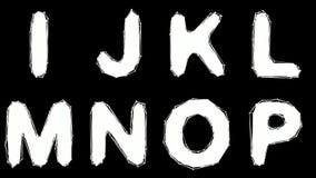 Alfabeto hecho del estilo polivinílico bajo aislado en el fondo blanco libre illustration