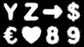Alfabeto hecho del estilo polivinílico bajo aislado en el fondo blanco stock de ilustración