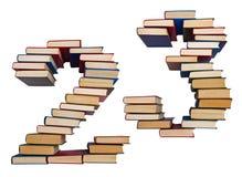 Alfabeto hecho fuera de los libros, cuadros 2 y 3 Imagenes de archivo