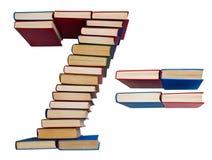 Alfabeto hecho fuera de los libros, de los cuadros 7 y de los iguales Imágenes de archivo libres de regalías