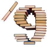 Alfabeto hecho fuera de los libros, de los cuadros 9 y de raya vertical Fotos de archivo