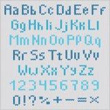 Alfabeto hecho punto del vector Imagenes de archivo