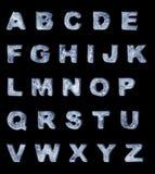 Alfabeto helado Imágenes de archivo libres de regalías