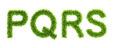 Alfabeto herboso simbólico Imagenes de archivo