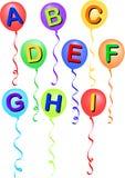 Alfabeto A-I/eps do balão Imagem de Stock