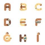 Alfabeto A-I Robot stock de ilustración