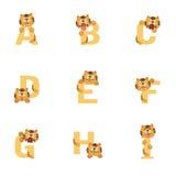 Alfabeto A-I Tiger ilustración del vector