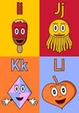 Alfabeto IL del jardín de la infancia Imagenes de archivo